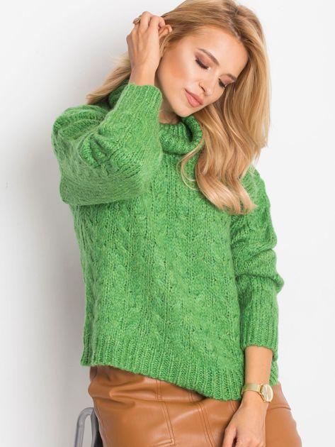 Zielony sweter Heavenly                              zdj.                              1