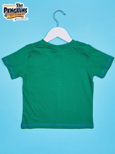 Zielony t-shirt chłopięcy PINGWINY Z MADAGASKARU                                  zdj.                                  2