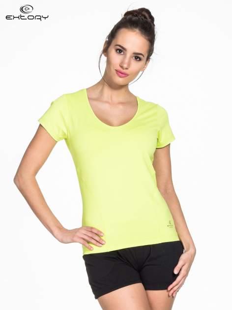 Zielony t-shirt sportowy basic                                  zdj.                                  1