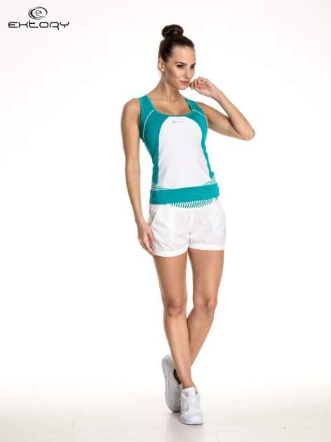 Zielony top sportowy na fitness                                  zdj.                                  2