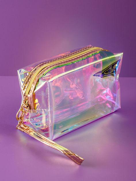 Złota kosmetyczka hologramowa                              zdj.                              2