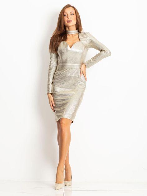 Złota sukienka Sparkle                              zdj.                              4