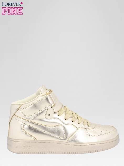 Złote buty sportowe Heather za kostkę na grubej podeszwie                                  zdj.                                  1