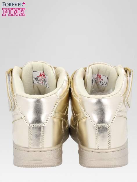 Złote buty sportowe Heather za kostkę na grubej podeszwie                                  zdj.                                  3