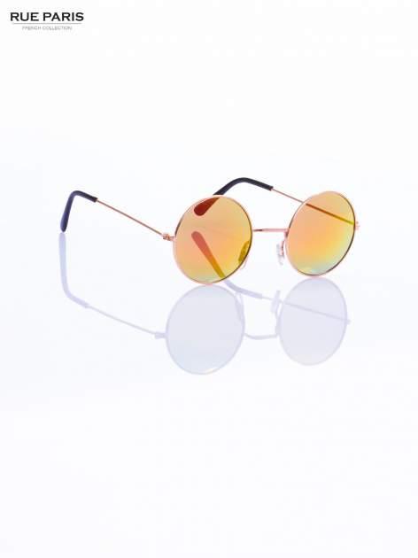 Złote okulary przeciwsłoneczne LENONKI lustrzanki                                  zdj.                                  6