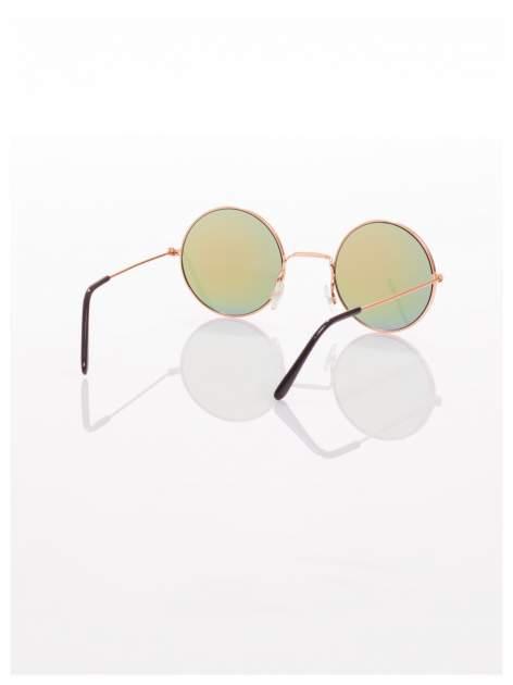 Złote okulary przeciwsłoneczne LENONKI lustrzanki                                  zdj.                                  3