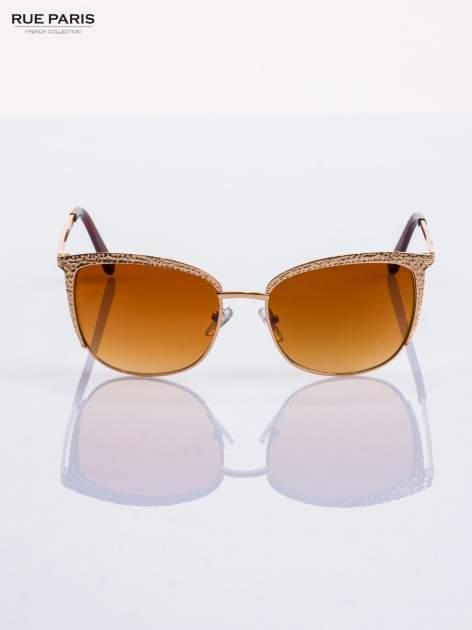 Złote okulary przeciwsłoneczne klasyczne