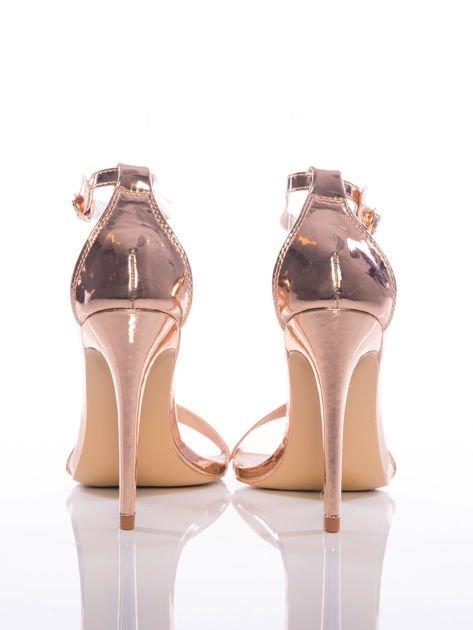 Złote sandały Vinceza na szpilkach zapinane w kostkach                              zdj.                              3