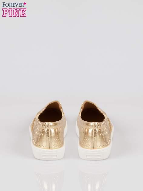 Złote wężowe buty slippers gold cap toe                                  zdj.                                  3