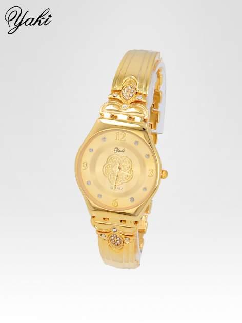 Złoty biżuteryjny zegarek damski ze złota tarczą                                  zdj.                                  2