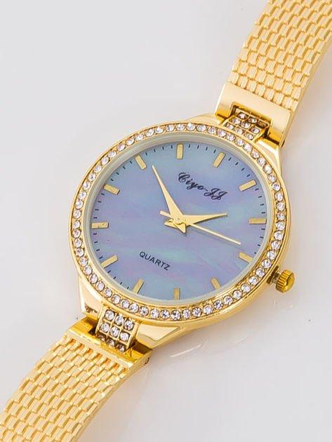 Złoty zegarek damski na bransolecie                              zdj.                              2