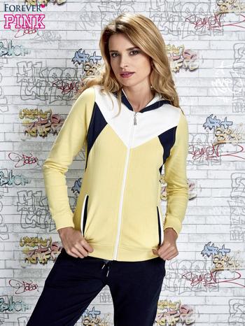 Żółta bluza z granatowymi wstawkami                                  zdj.                                  5