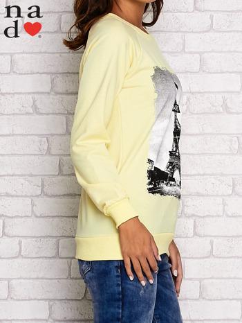 Żółta bluza z motywem Wieży Eiffla                                  zdj.                                  3