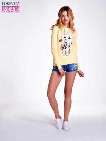 Żółta bluza z nadrukiem psa                                  zdj.                                  8