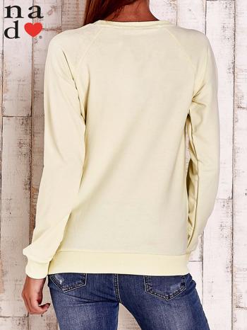 Żółta bluza z napisem BE NICE                                  zdj.                                  4