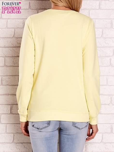 Żółta bluza z napisem BOSTON 83                                  zdj.                                  4