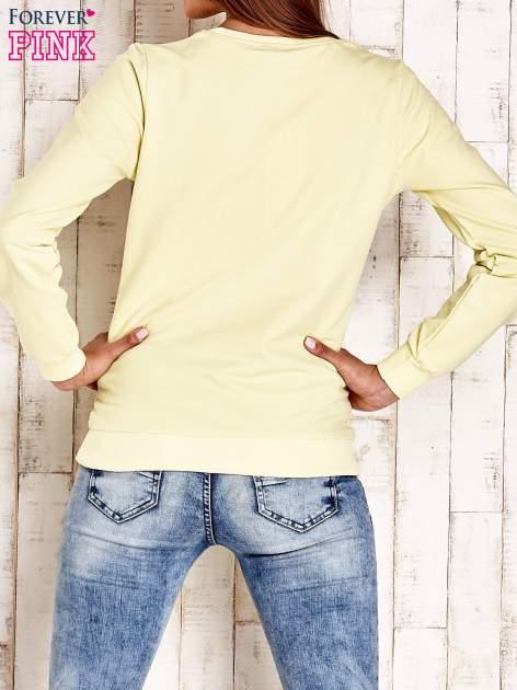 Żółta bluza z napisem CITY GIRL                                  zdj.                                  2
