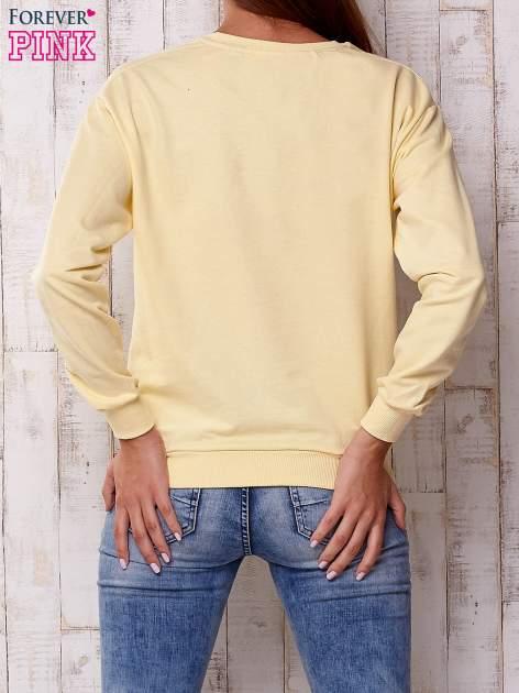 Żółta bluza z napisem I LIKE MY MUSIC LOUD                                  zdj.                                  2