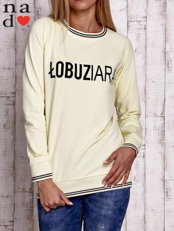 Żółta bluza z napisem ŁOBUZIARA                                  zdj.                                  1