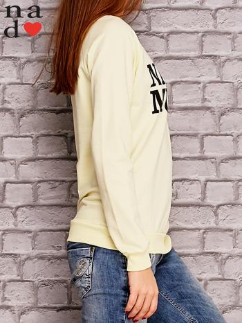 Żółta bluza z napisem NIC NIE MUSZĘ                                   zdj.                                  3