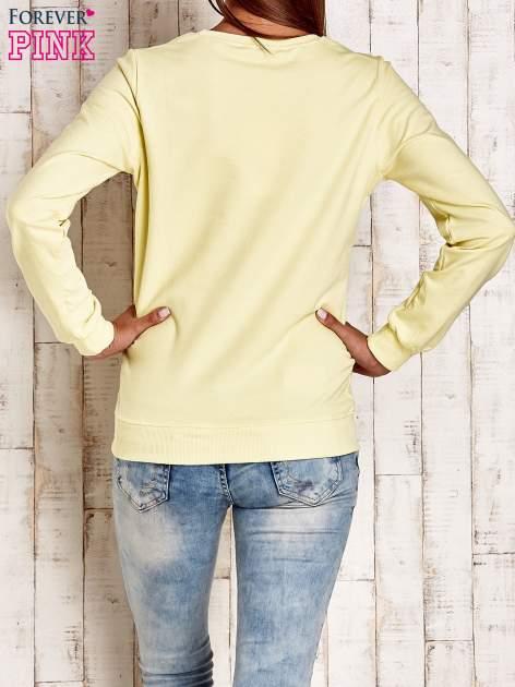 Żółta bluza z napisem NO LIMITS                                  zdj.                                  2