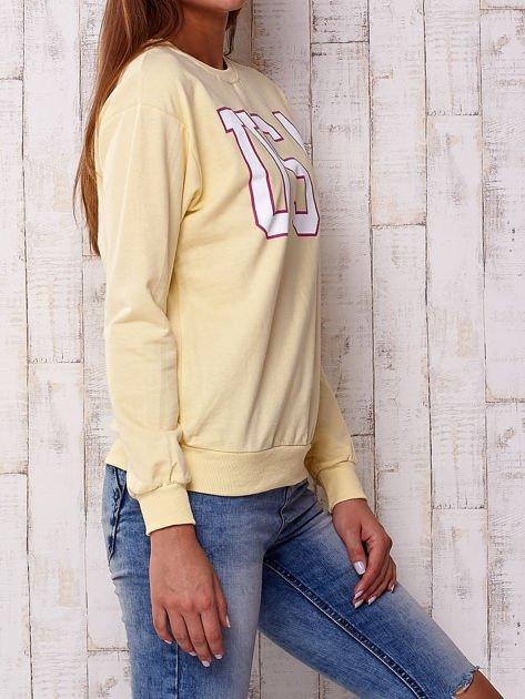 Żółta bluza z napisem USA                              zdj.                              3