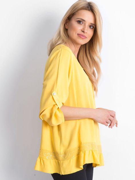 Żółta bluzka Nostalgic                              zdj.                              3
