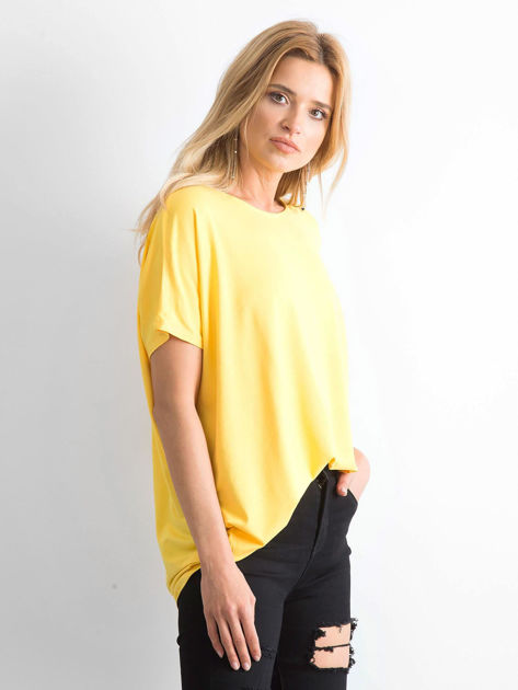 Żółta bluzka Oversize                              zdj.                              3