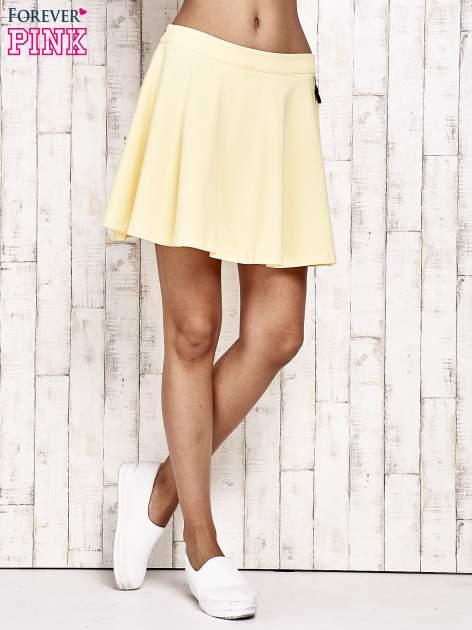 Żółta dresowa spódnica szyta z koła                                  zdj.                                  2