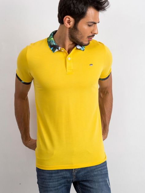 Żółta męska koszulka polo Sour