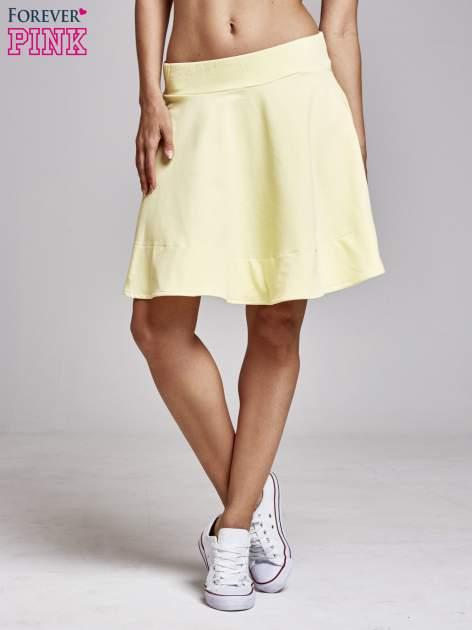Żółta spódnica dresowa skater                                  zdj.                                  2