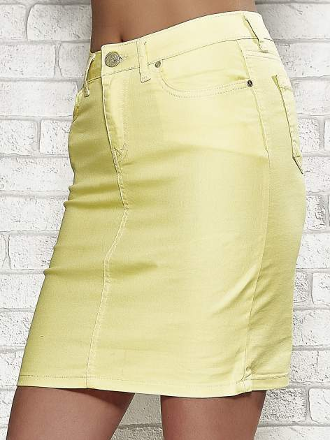 Żółta spódnica z zapięciem na guzik                                  zdj.                                  5