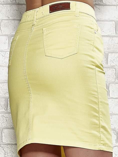 Żółta spódnica z zapięciem na guzik                                  zdj.                                  6