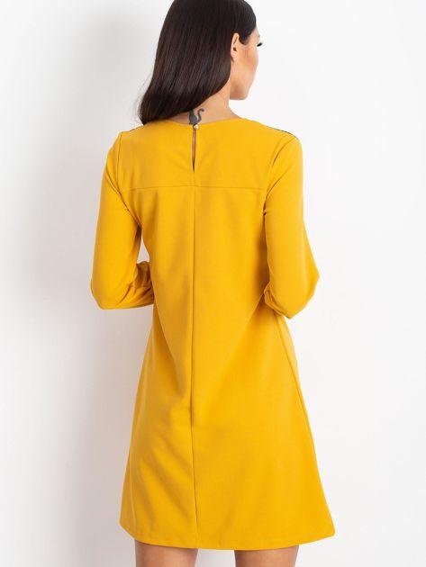 Żółta sukienka Bombay                              zdj.                              2