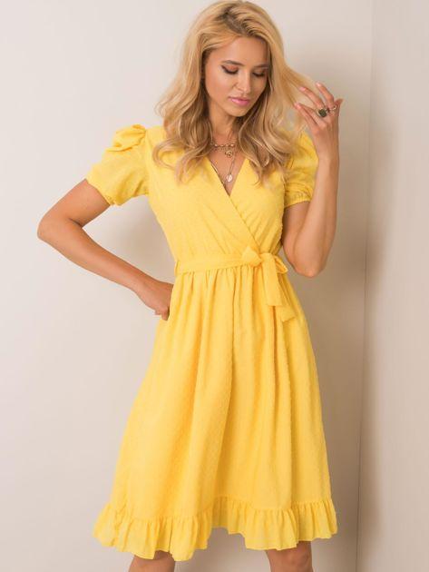 Żółta sukienka Colette RUE PARIS