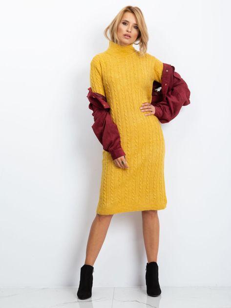 Żółta sukienka Evermore                              zdj.                              4