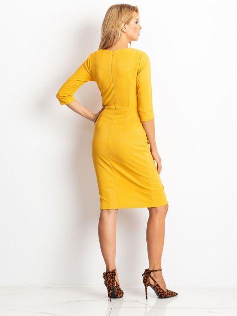 Żółta sukienka Shape                              zdj.                              2