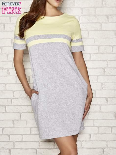 Żółta sukienka dresowa baseball dress                                  zdj.                                  1