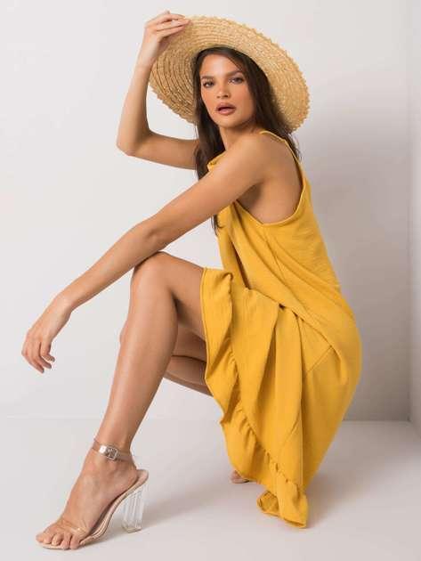 Żółta sukienka na ramiączkach Simone