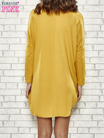 Żółta sukienka z napisem NEW YORK CITY                                  zdj.                                  2
