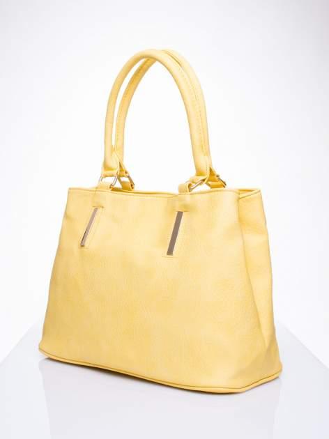 Żółta torba miejska na ramię                                  zdj.                                  3