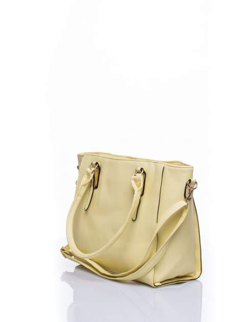 Żółta torba shopper bag z odpinanym paskiem                                  zdj.                                  3