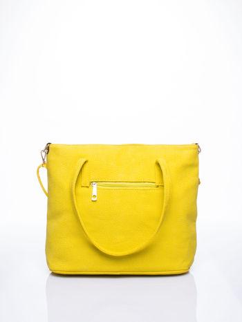Żółta torba shopperka z odczepianym paskiem                                   zdj.                                  2