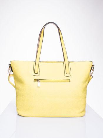 Żółta torba z klamrami i odpinanym paskiem                                   zdj.                                  2