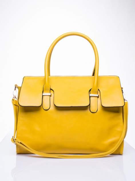 Żółta torebka teczka z klapką