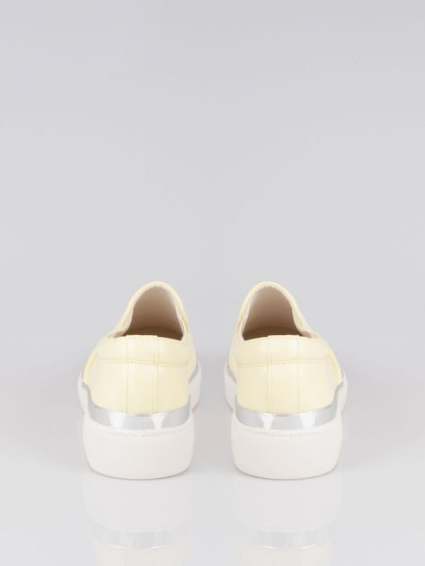 Żółte buty sliponki glitter                                  zdj.                                  3