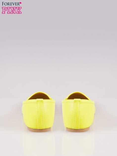 Żółte gładkie balerinki eco leather ze skóry ekologicznej                                  zdj.                                  3