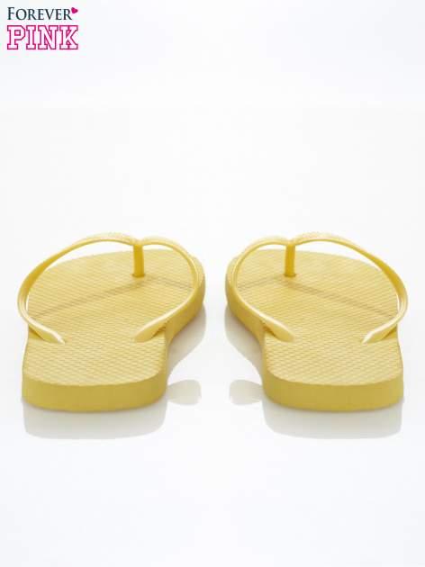 Żółte gumowe japonki damskie                                  zdj.                                  3