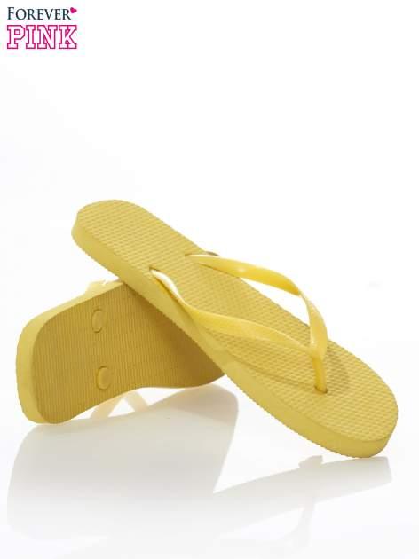 Żółte gumowe japonki damskie                                  zdj.                                  4