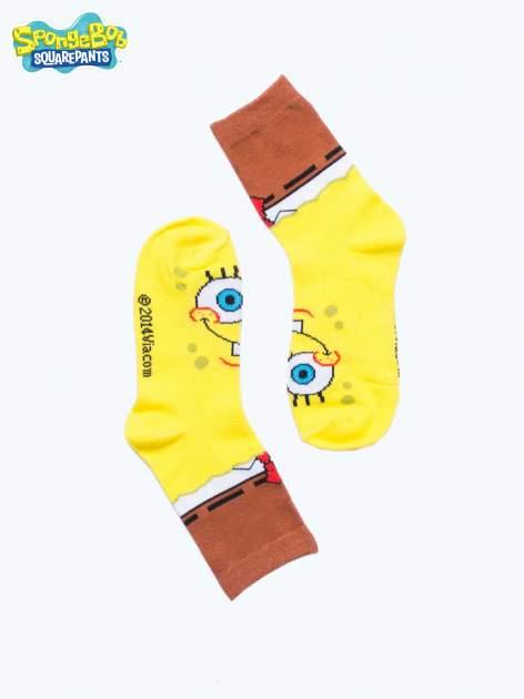 Żółte skarpetki chłopięce SPONGEBOB                                  zdj.                                  2
